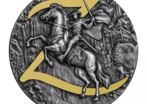 ZORRO 2 Oz Silver Coin 5$ Niue 2021