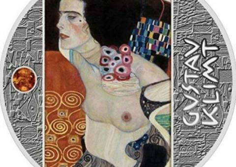 JUDITH II Gustav Klimt Golden Five Silver Coin 500 Francs Cameroon 2020